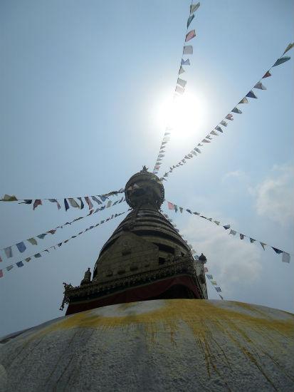 Monkey Temple Stupa Kathmandu Arriving in Kathmandu, Nepal | Part Deux