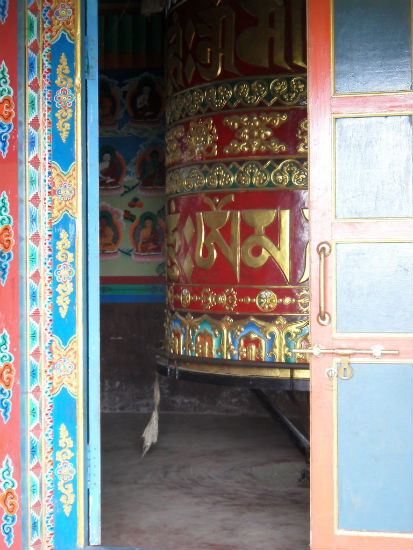 Prayer Wheel near Lukla Nepal Hanging in the Himalayas | Lukla   Monzo