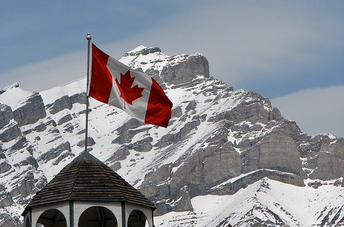 Banff, Canadian Flag