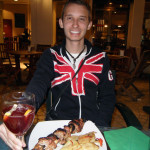 Shawn Voyage with eating a Spanish Meal 150x150 Spring Break in Spain : Málaga