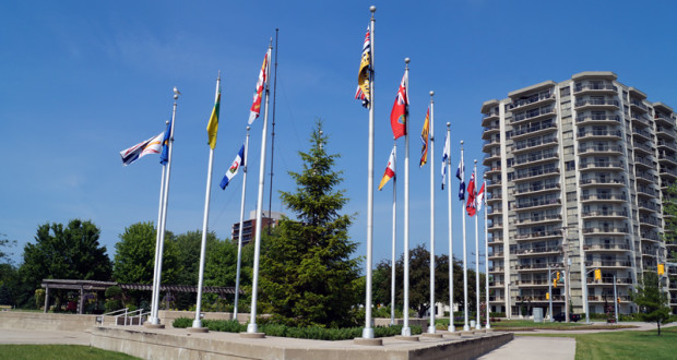 Flags in Sarnia