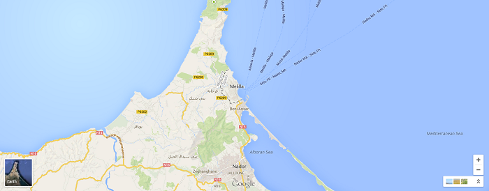 Melilla Spain Map.The Spanish Enclaves In North Africa Shawnvoyage