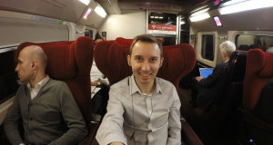 Shawn GoPro inside Thalys train