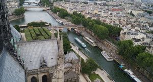 Paris France - River Seine from Notre Dame