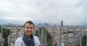 Paris France - Shawn on top of Arc de Triomphe