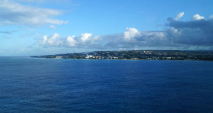 Bathing in Barbados - Approaching Barbados from the Ocean