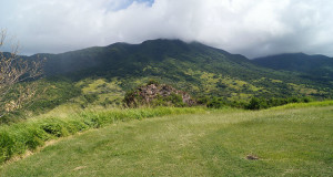 The Island Tour of St. Kitts - Mount Liamuiga from fort