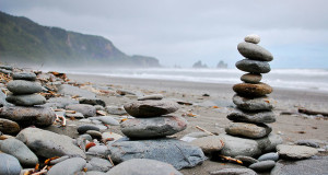 How to Stay Balanced while Traveling - Rocks balancing