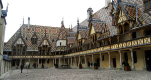 The 572 Year Old Hospital - Polychrome roof at Hospices de Beaune